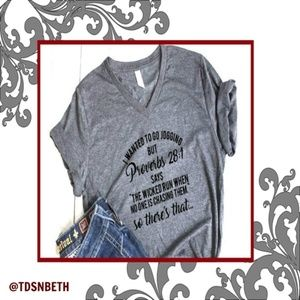 ONE BLESSED NANA Tops - NWT**BOUTIQUE**  Proverbs 28:1  FUN TEE  2X